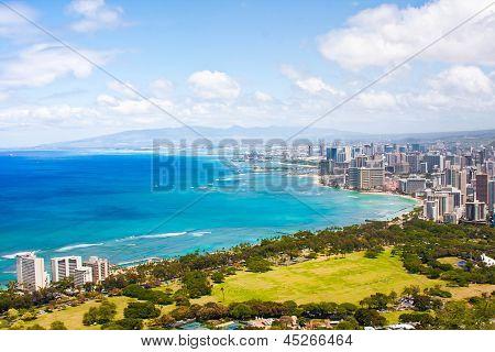 The Beautiful Skyline of Oahu,Hawaii