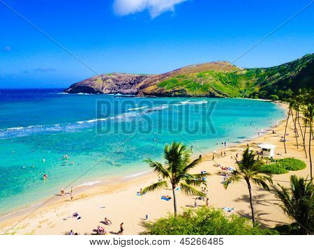 Hanauma Bay, the Best Place for Snorkeling in Oahu,Hawaii
