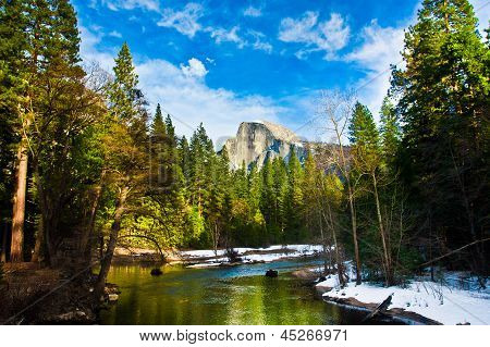 Half Dome Rock , the Landmark of Yosemite National Park,California