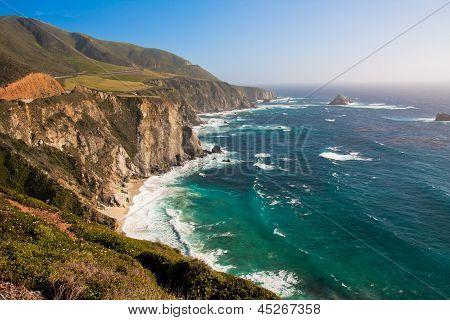 Beautiful Coastline in Big Sur,California