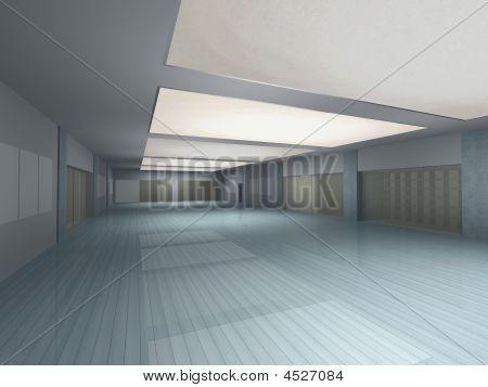 Long Empty Hall Interior