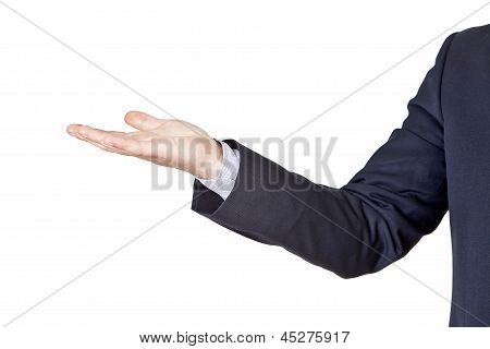 Businessman Gesturing With His Hand