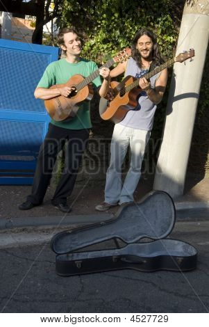 Men Playing Guitar - Vertical
