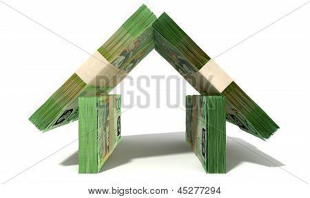 Australian Dollar Notes House Front