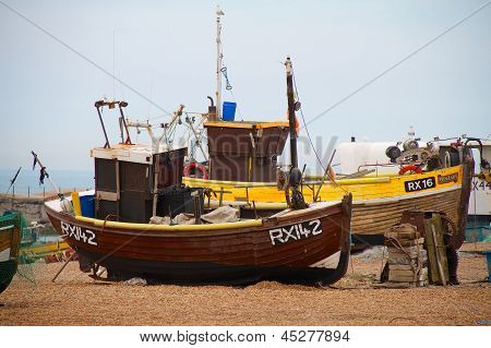 Fishing Boats On The Stade