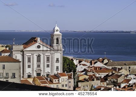 Church And River In Lisbon