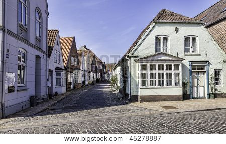 Old Streets In The Danish Village Tonder