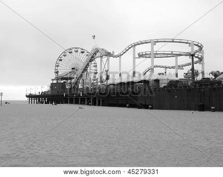 Los Angeles - September 17: Santa Monica Pier In Los Angeles, Ca On September 17, 2011.  The Long, N
