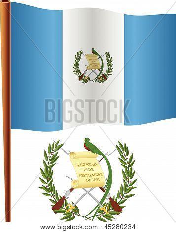 Bandeira ondulada de Guatemala