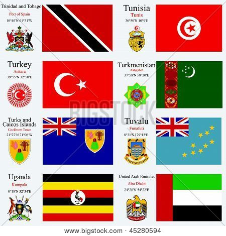 World Flags And Capitals Set 25