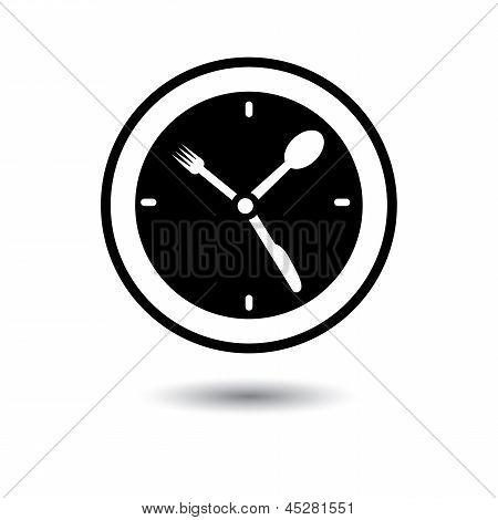 Lunch Hour, Food Time, Dinner Time- Concept Vector Illustration