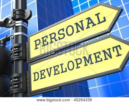 Education Concept. Personal Development Roadsign.