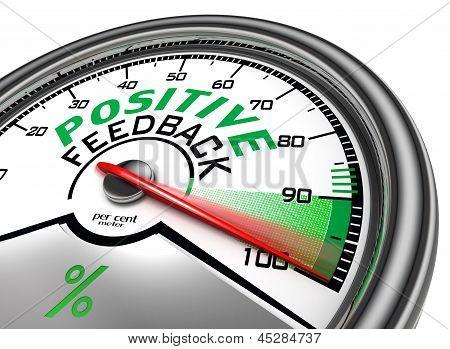Positive Feedback Conceptual Meter