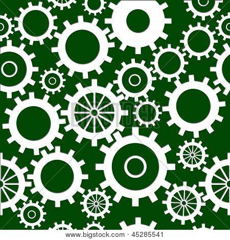Seamless Gears Green