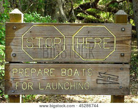 Unique Boat Launch Sign