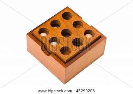 Puzzle Box On White