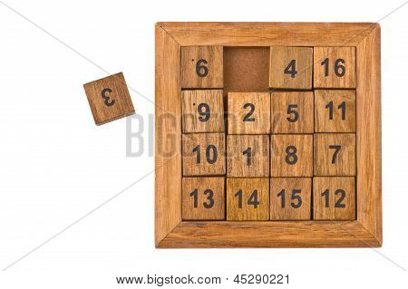 Puzzle With Numbers On White