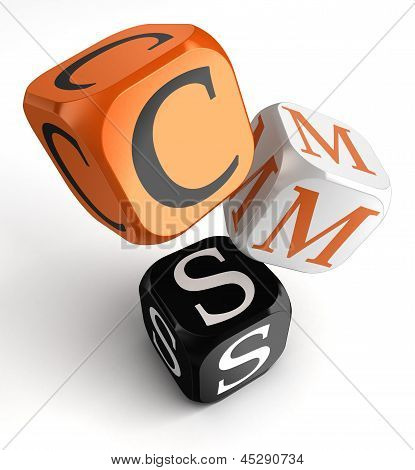 Cms Orange Black Dice Blocks