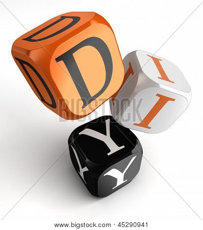 Diy Orange Black Dice Blocks