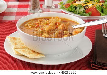 Chicken Gumbo mit Cracker