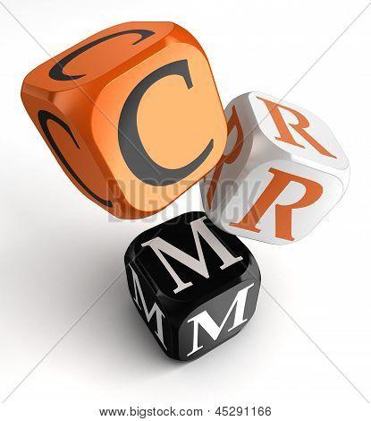 Crm Orange Black Dice Blocks