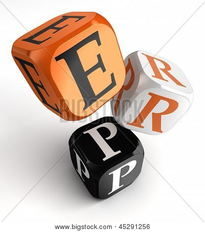 Erp Orange Black Dice Blocks