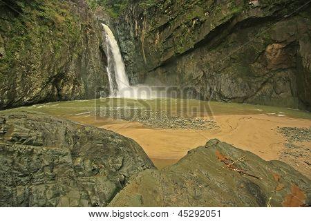 Salto Jimenoa Uno cachoeira, Jarabacoa, República Dominicana