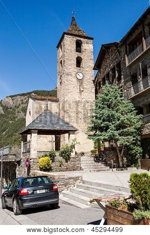 Belltower In Ordino, Andorra