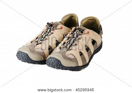Sports Footwear, It Is Isolated On White