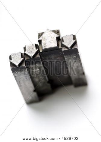 Vintage Letterpress Arrows