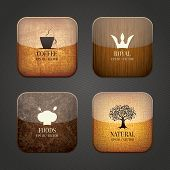 stock photo of food label  - Food and drink application icons - JPG