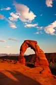 foto of cloud formation  - Dedicate Arch Sunset in Arches National Park - JPG
