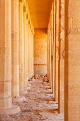 stock photo of hatshepsut  - Columns in the Temple of Queen Hatshepsut in Egypt - JPG