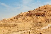 stock photo of hatshepsut  - Tombs at the Temple of Queen Hatshepsut  in Egypt - JPG