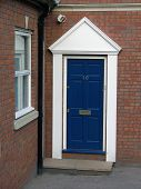 stock photo of front door  - A blue front door - JPG
