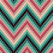 Herringbone Pattern in Pink and Green