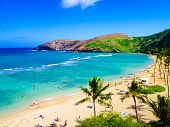 stock photo of shoreline  - Hanauma Bay - JPG