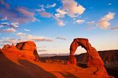 Dedicated Arch Sunset in Arches National Park,Utah