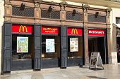 VALENCIA, SPAIN - MAY 5: McDonald�´s restaurant on May 5, 2013 in Valencia, Spain. McDonald�´s i
