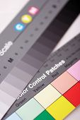 stock photo of lithographic  - color control and calibration swatches - JPG
