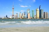 Lujiazui Finance&trade Zone Of Shanghai Landmark Skyline At City Landscape
