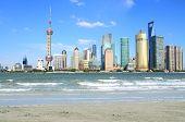 Lujiazui Finance&trade Zone Of Shanghai Landmark Skyline At City Landscape poster