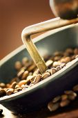 Coffe Beans In The Grinder