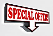 Special Offer Sign With Arrow