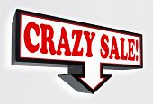 Crazy Sale Red And Black Arrow Sign