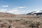picture of lamar  - View from the west of the Lamar Valley in Yellowstone - JPG
