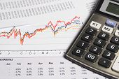 stock photo of financial audit  - Financial or accounting concept  - JPG