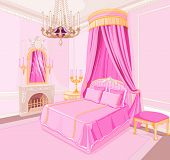 Interior of magic princess bedroom