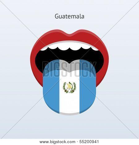 Guatemala language. Abstract human tongue.