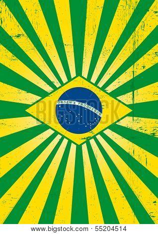 Brazilian sunbeams poster. A poster on brazilian theme for you.